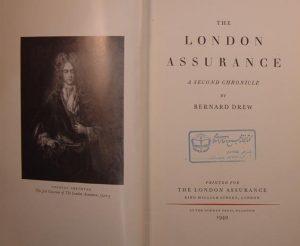 (THE LONDON ASSURANCE, A SECOND CHRONICLE BY BERNARD DREW, (SZ1712