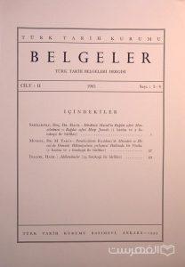 BELGELER, TURK TARIH BELGELERI DERGISI, II, 1965, Sayi 3-4, چاپ ترکیه, (MZ2299)