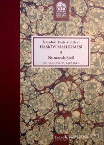 Istanbul Kadi Sicilleri, HASKOY MAHKEMESI, 5, Numarali sicil, چاپ ترکیه , (MZ2344)